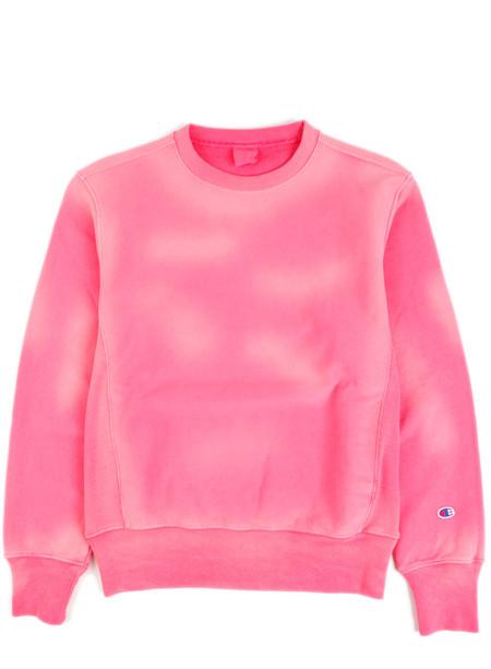 Champion Reverse Weave Crewneck Sweatshirt Overdye Pink