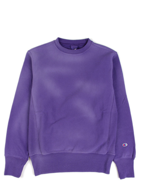 Champion Reverse Weave Crewneck Sweatshirt Overdye Purple