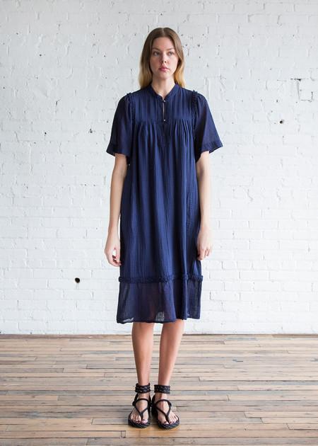 Raquel Allegra Peasant Dress Navy