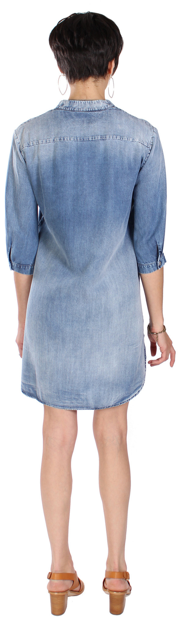 European Culture Denim Shirt Dress