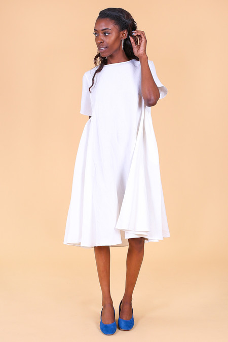 Creatures of Comfort Mallory Dress in White
