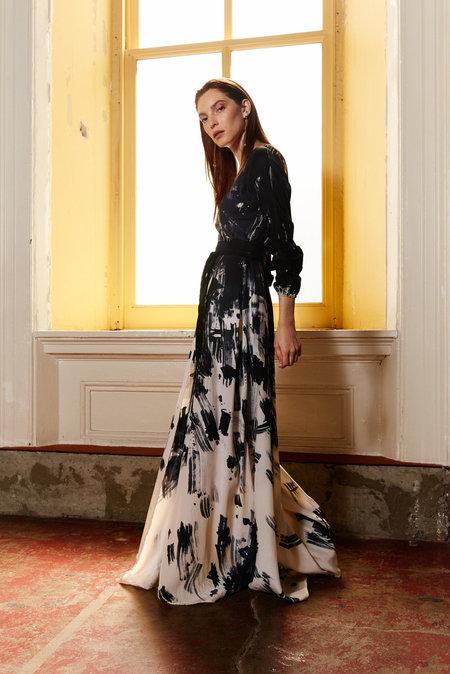 KAMPERETT Linden Wrap Dress -  Hand Painted