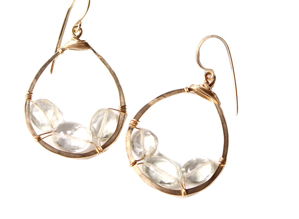 James and Jezebelle Green Amethyst Hoops