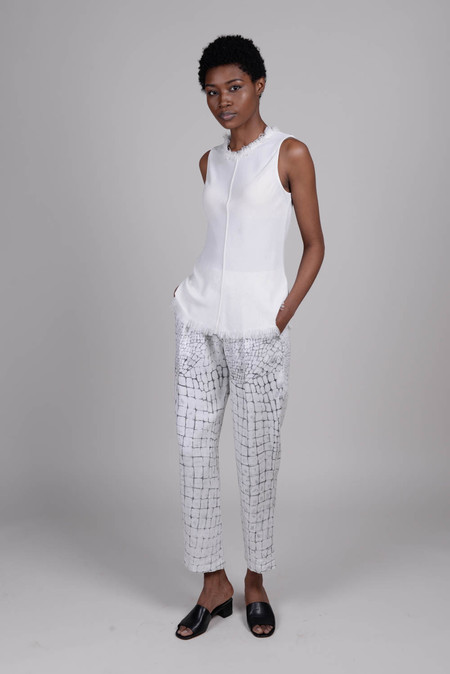 Raquel Allegra Bleached Gator Easy Pant
