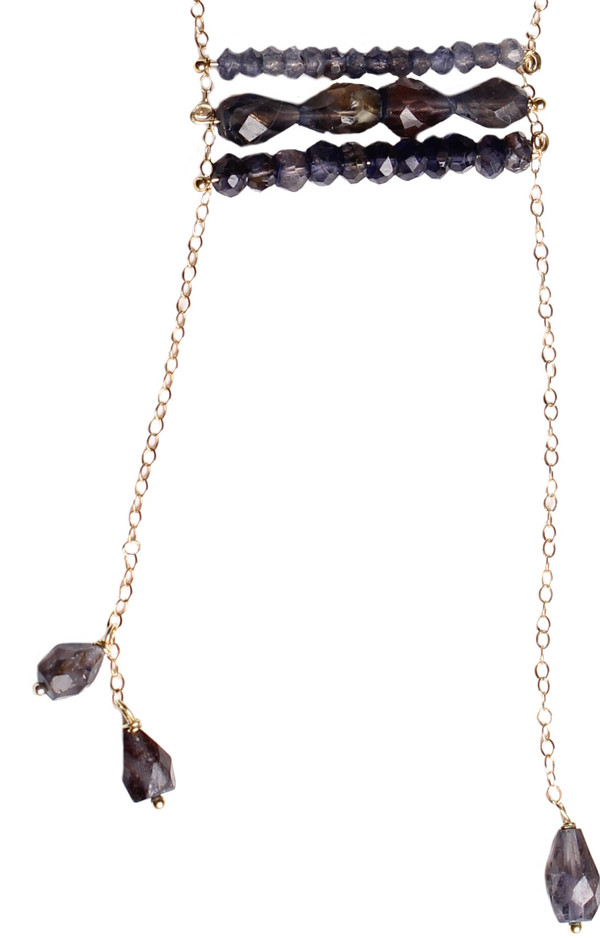 James and Jezebelle Iolite Ladder Necklace