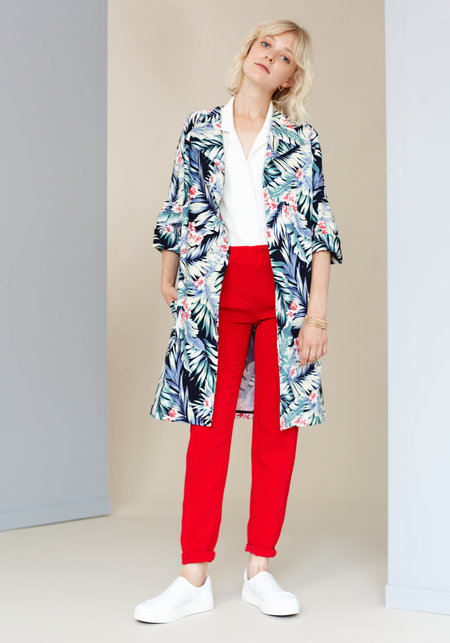 Marigold 'Simone' coat - Hawaiian