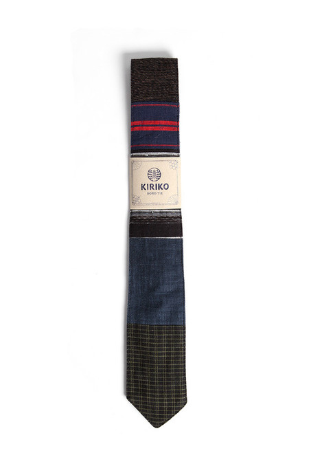 Kiriko Boro Tie Dark Stripes