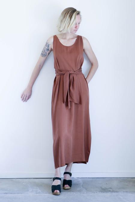 Shaina Mote Tie Dress in Clay