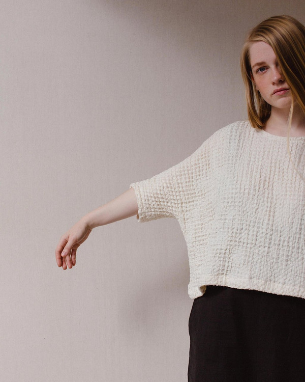 Open Air Museum Cotton Waffle Sweater