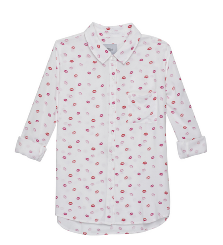 RAILS | ROCSI BUTTON DOWN IN LIPS PRINT