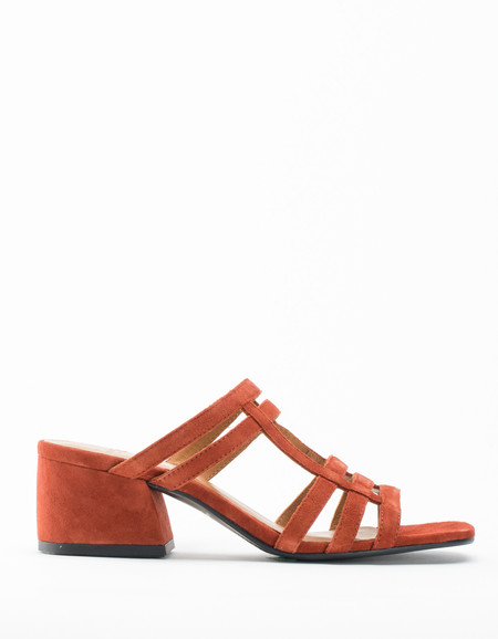 Vagabond Saide Cage Mule Rusty Red