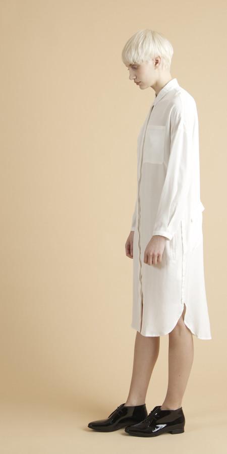SCHAI Tower Silk Shirtdress