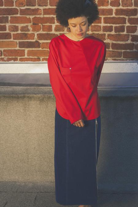 Angular Paneled Wool Shirt