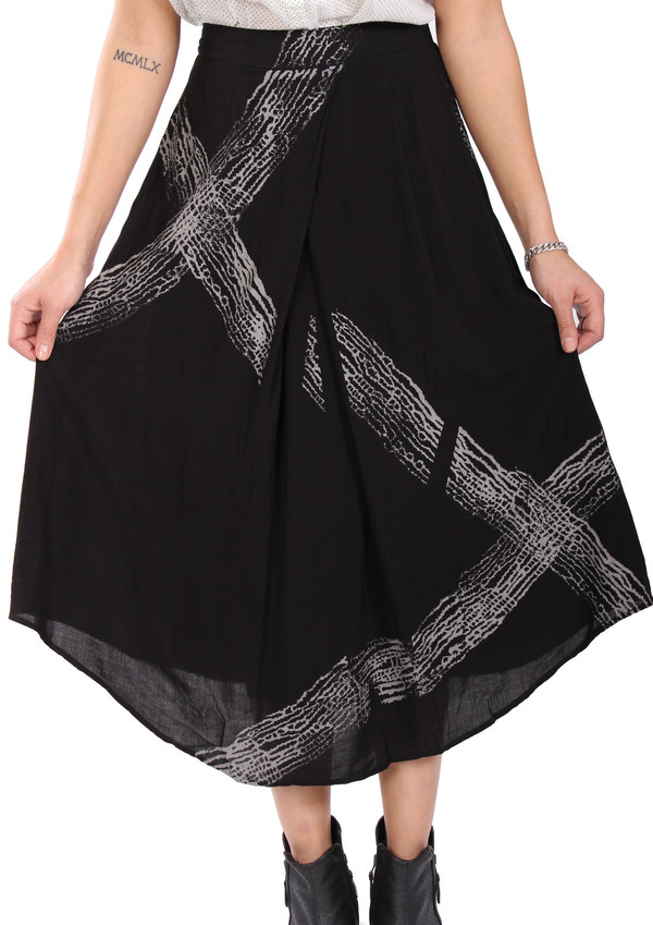 Tina + Jo Pleat Front Midi Skirt