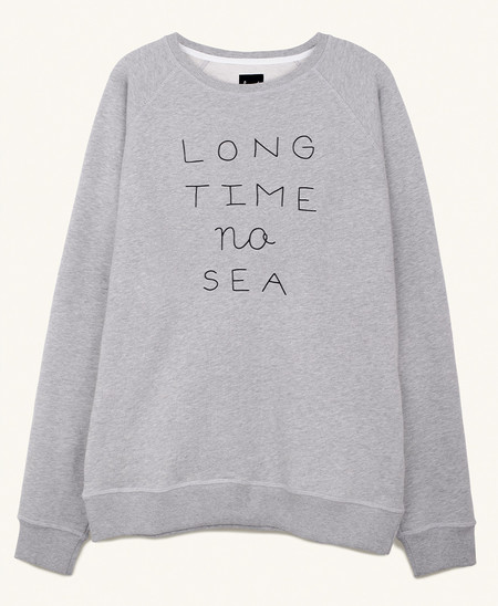 Pleasant Long Time No Sea Sweat in Grey