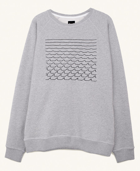Pleasant Waves Sweat in Grey