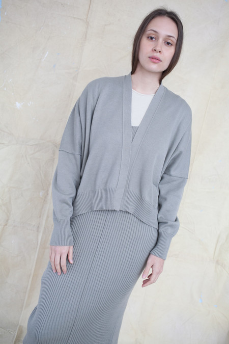 Lauren Manoogian Normal Cardigan in Clay