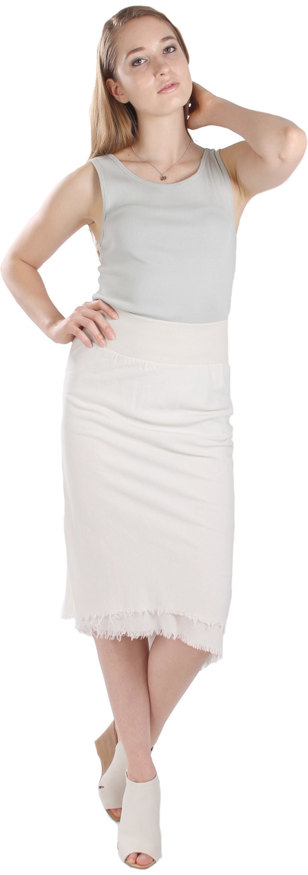 Pre-Order: Sirenuse Skirt in Oyster