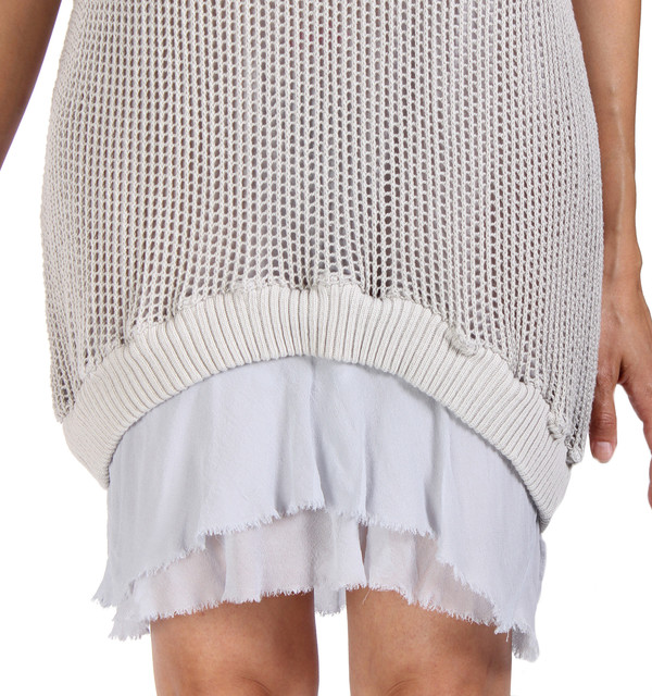 Clu Ruffled Mesh Tunic