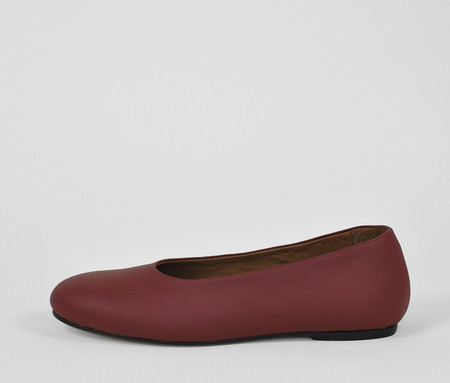 The Palatines Shoes adeo high vamp ballet flat - garnet leather