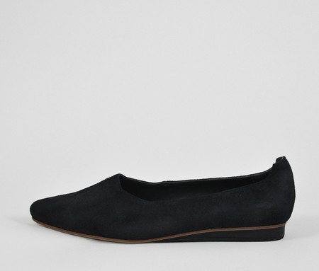 The Palatines Shoes paratus high vamp wedge - black suede