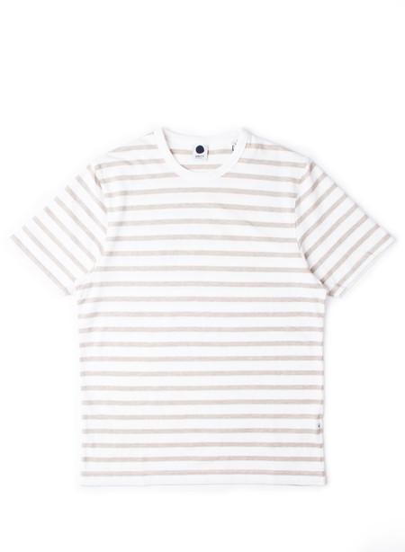 NN07 Basic Stripe Tee Khaki