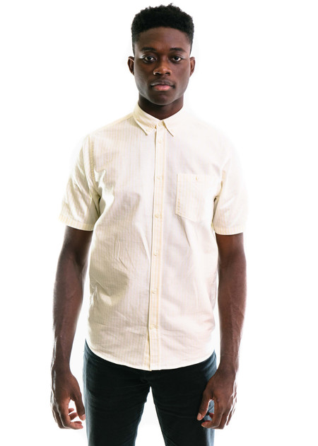 Norse Projects Anton Oxford SS - Edge Yellow Stripe