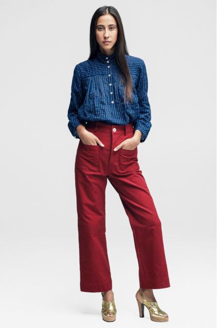 Horses Atelier High Waisted Trouser - Red