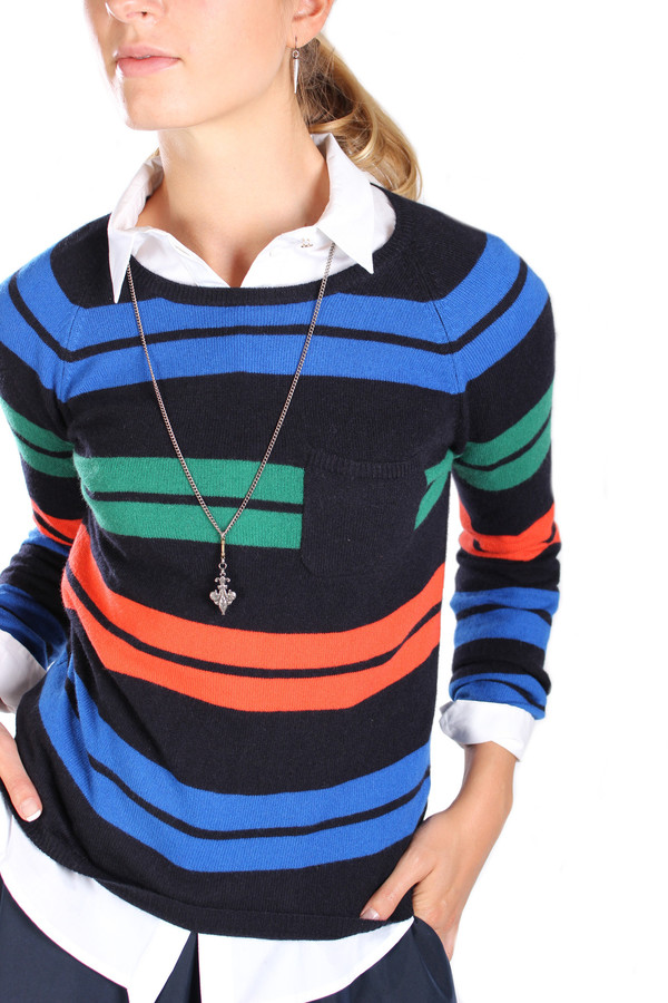 Chinti and Parker Snug Stripe Sweater