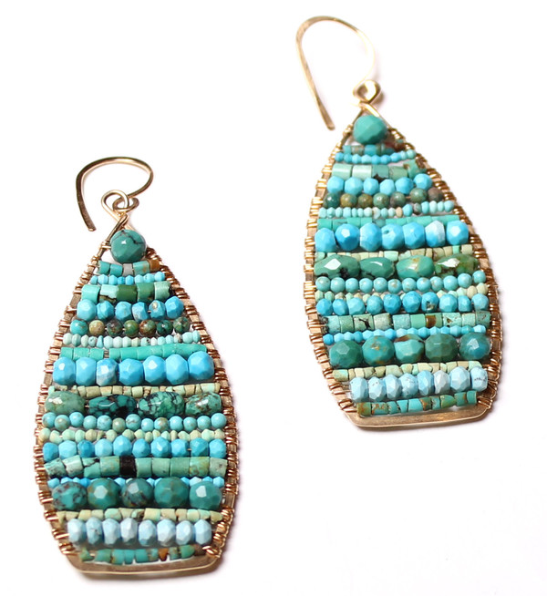 James and Jezebelle Turquoise Paddle Earring