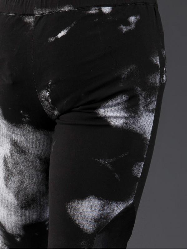 MEN'S HORACE BLEACH PRINT LEATHER PANELLED LEGGINGS