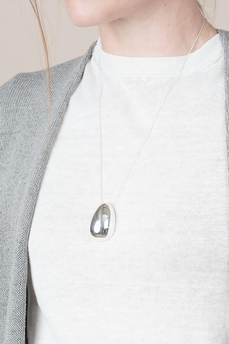 Sophie Buhai Egg Pendant Long In Sterling Silver