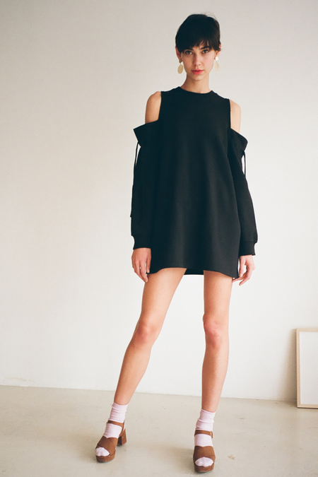 O.O Slack Black Dress Top