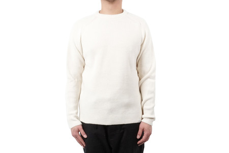 Norse Projects BIRNIR COMPACT MERINO - LUCID WHITE