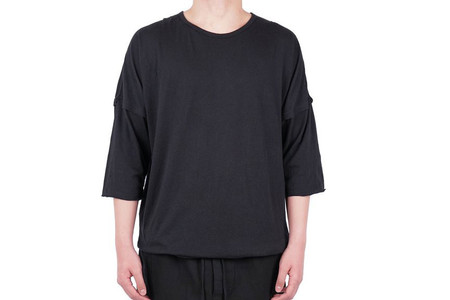 Chapter STALT 3/4 SLEEVE T-SHIRT - BLACK