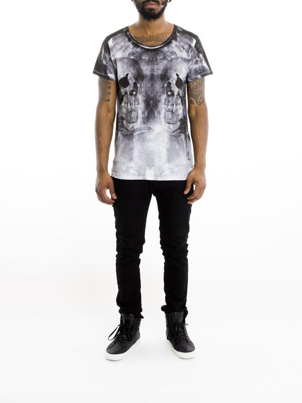Religion Reflective Skull T-Shirt