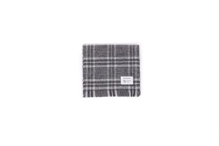 "Norse Projects X JOHNSTONS CHECK SCARF ""GREY CHECK"""