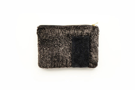 Primecut Forest Patchwork Sheepskin Clutch