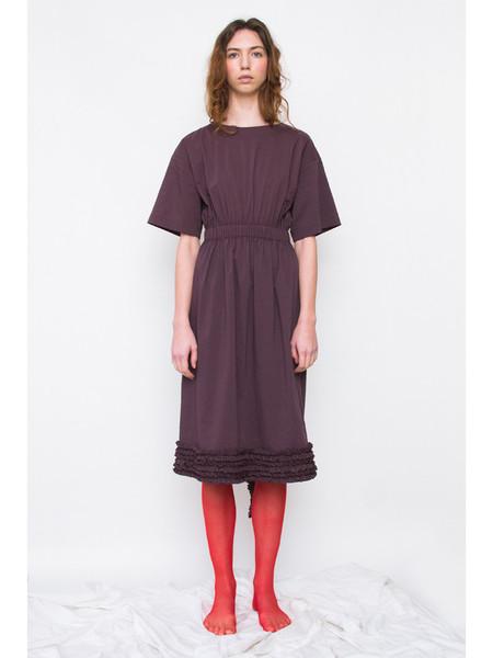Rowena Sartin Unfinished Elastic Waist Ruffle Dress