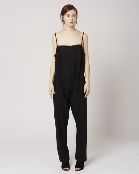Baserange Shankar raw silk jumpsuit in Black