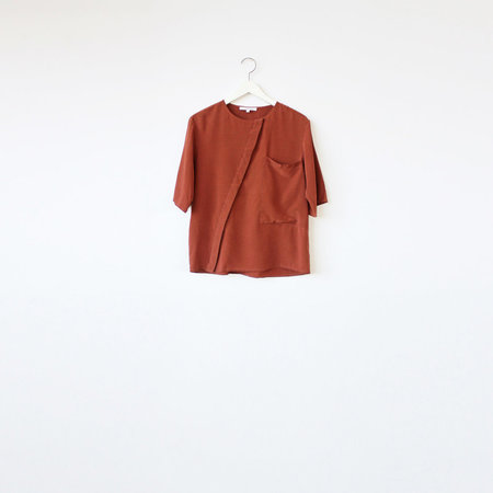 VINCETTA Asymmetrical Placket Shirt