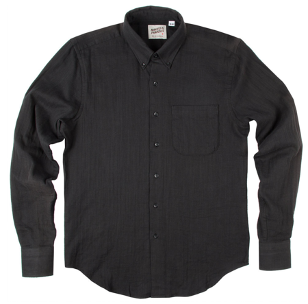 Naked and Famous Black Oxford Shirt