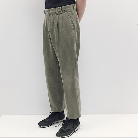 Johan Vintage Olive Brushed Cotton Pant
