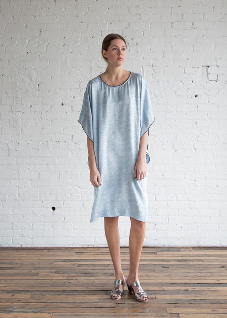 Raquel Allegra Kimono Sleeve Dress Sky