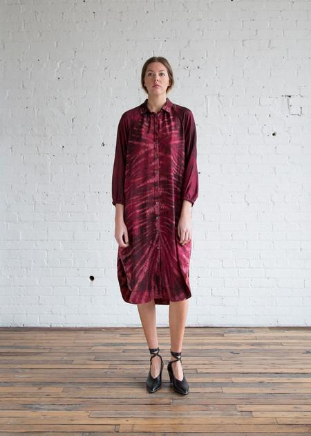 Raquel Allegra Shirt Dress Oxblood TD