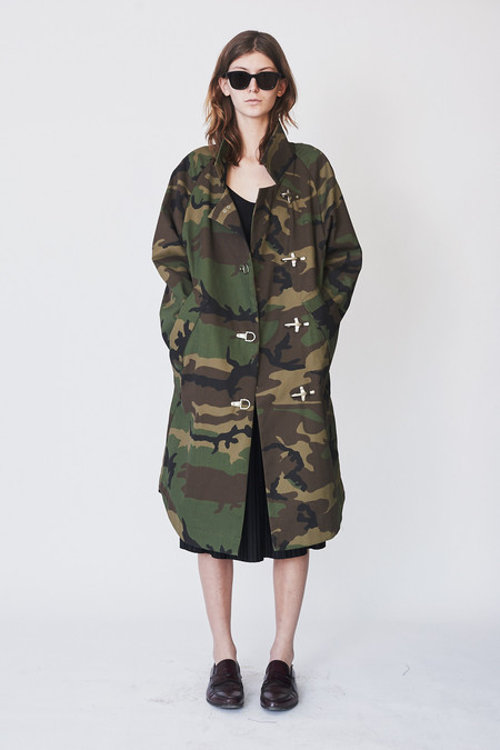 Assembly New York Cotton Camo Raglan Baggy Trench