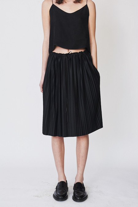 Assembly New York Poly Pleat Knee-length Skirt