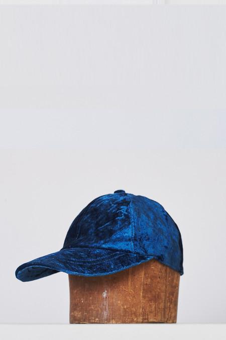 Colorant Velvet Cap - Indigo