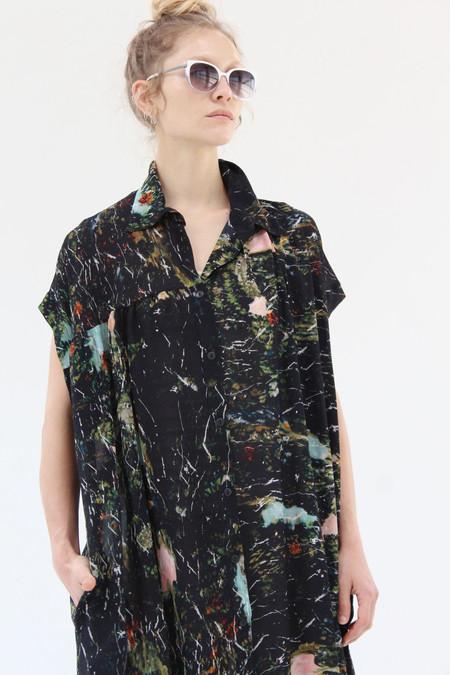 Anntian Silk Sleeveless Dress Print C