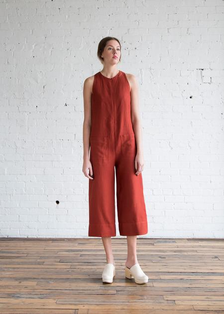 Nomia Cropped Jumpsuit Brick